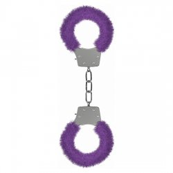Ouch Pleasure handcuffs with plush lilac