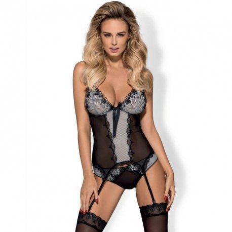 Corset Greyla con Panties Negro