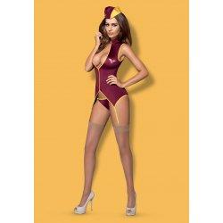 Disfraz Azafata Sexy de Vuelo 3 Pcs