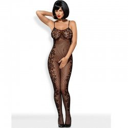 Catsuit Bodystocking F219 Negro