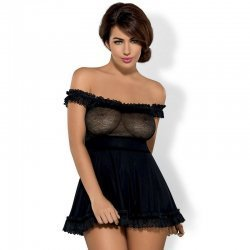 Floresita black Babydoll dress
