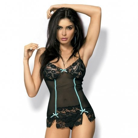 Picardias Bloom Chemise Negro