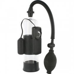 Erection pump penis with vibrator