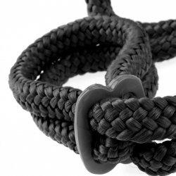 Black silk handcuffs Fetish