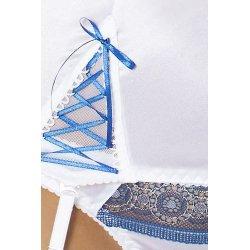 Eleni Corset Blanco & Azul