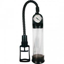 Pompe à érection avec manomètre noir