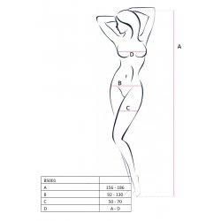 Malla Erotic Line Catsuit Blanco