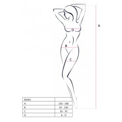 Mesh Erotic Line Catsuit white