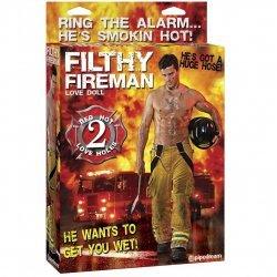 Filthy Fireman Bombero Sexy 2 Orificios