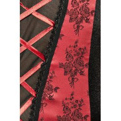 Rumba Corset Negro y Rojo