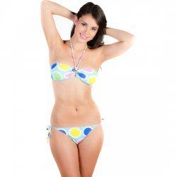 Bikini Australia Celeste Lunares de Colores