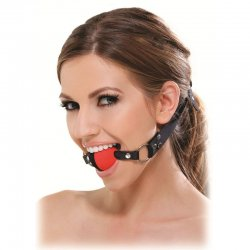 Gag Fetish black and Red