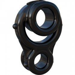 Pénis et des testicules d'anneau noir triples Ironman