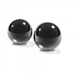 Small black glass Ben-Wa balls