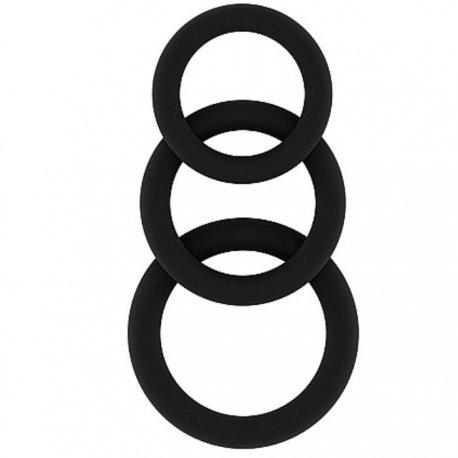 Sono N 25 Set rings black silicone