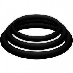 Pénis noir de Potenzplus Kit 3 anneaux
