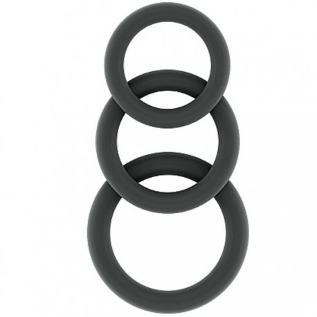 Sono N 25 Set rings penis grey silicone