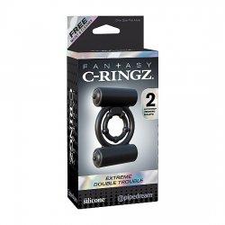 C-Ringz Anillo Doble Placer Extreme Negro