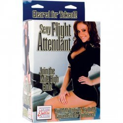 Flight stewardess blow-up doll