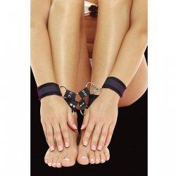 Ouch Esposas de Velcro para Pies y Manos Negro
