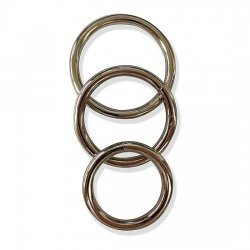 Pack 3 Metal rings for the Golden penis