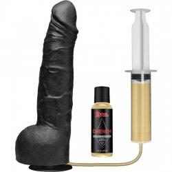 Pene Eyaculador de Silicona Negro 23 cm