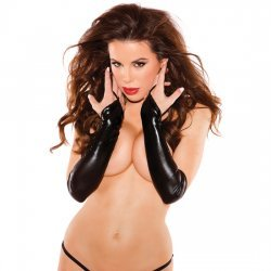 Sexy siren black long gloves