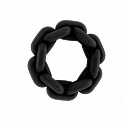 Silicone noir anneau de Sono 2,2 cm N6