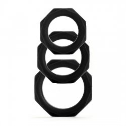 Rings for penis Octagon 3 sizes black