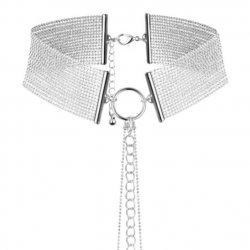 Magnifique Collar de Cadenas Metálicas Plateado