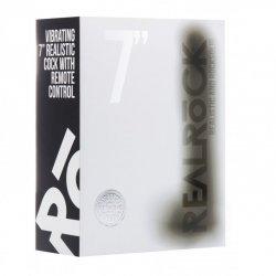 Realrock Pene Vibrador 18 cm Negro
