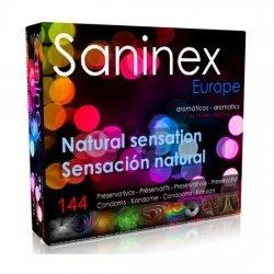 Sensation naturelle de Saninex préservatifs 144 unités