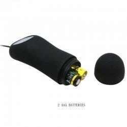 Love Plug Anal Silicona 12 Modos Vibración Negro