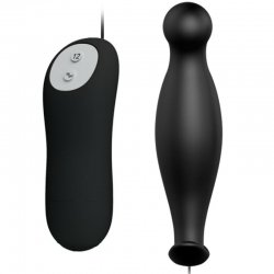 Love Anal Plug silicone 12 modes black vibration