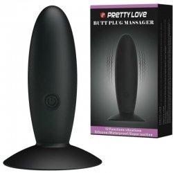 Plug Anal Silicona Recargable con Vibración Negro