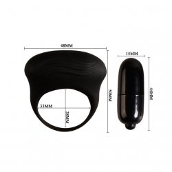 Bertram ring vibrator penis silicone black