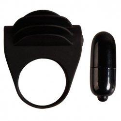 Chester ring penis vibrator silicone black