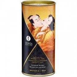 Shunga Aceite Efecto Calor Besos de Caramelo 100 ml
