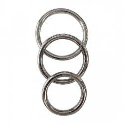 Metal 3 penis ring Kit