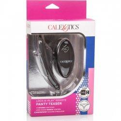Adjustable remote control bullet black panties