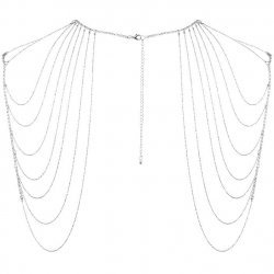 Jewel of metal chains for shoulder and back silver