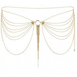 Jewel waist golden metal chains