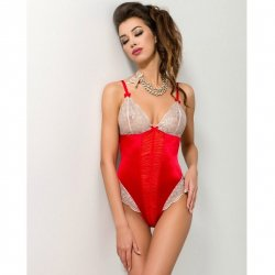 Passion Loraine Body brodé rouge