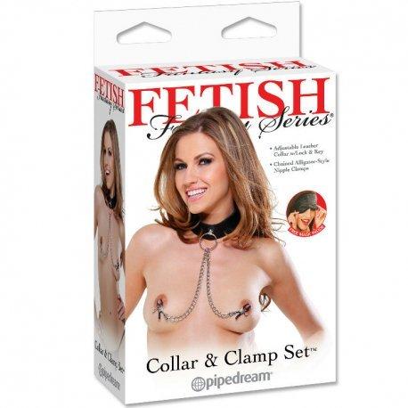 Pinzas para Pezones con Collar Fantasy