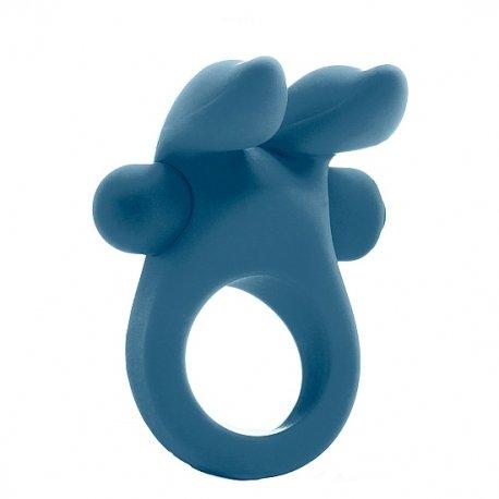Bunny Anillo Vibrador Silicona Azul