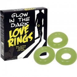Rings penis luminescent Silicon 3 PCs.