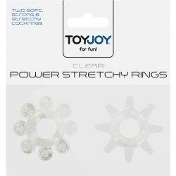 Power Stretchy Anillo para el Pene Textura 2 Uds.