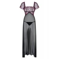 Vestido Largo Sexy Sedusia Negro Lila