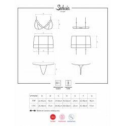 Conjunto Sedusia Set 3 Piezas Negro Fucsia