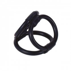 Tri Ring Cock harness black